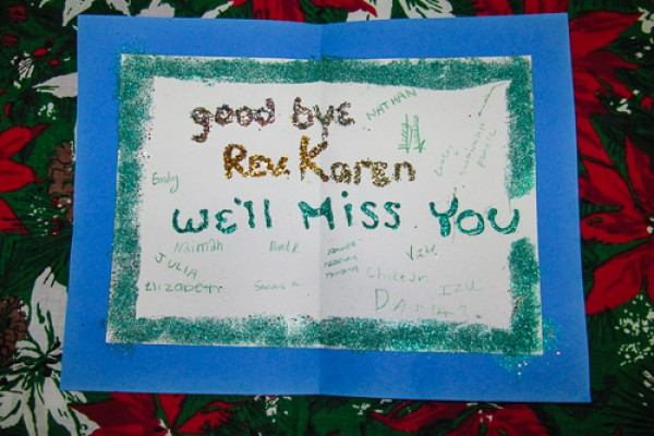 Goodbye Card from Children and Youth